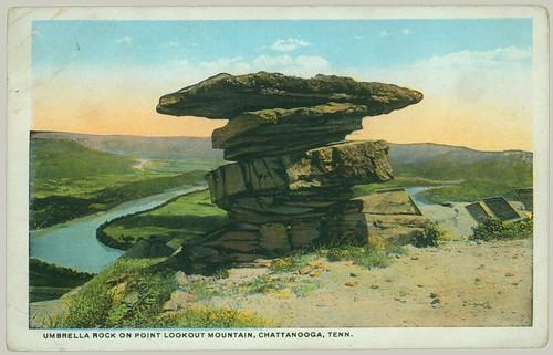 Postcard Umbrella Rock