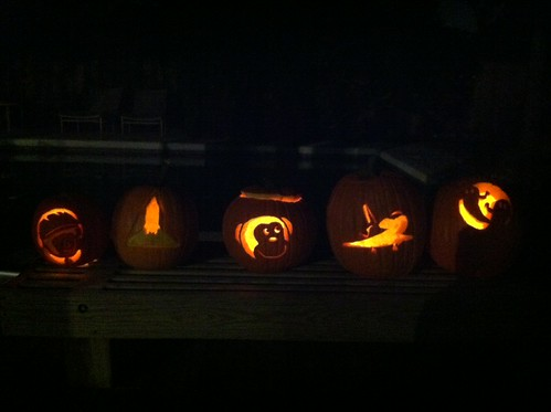 Wow! The pumpkins all lit up look awesome!