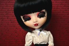 Jae Won | Pullip Full Custom (Zoo*) Tags: red white black macro rouge doll noir handmade pullip custom pinup custo jaewon eyelashe leeke obitsu closeeyes darkstars leekewig rewigged souseiseki maisonclose obitsu27cm sbhm fullcustom fullcusto d3100