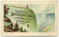 New York Advertising Sign Co. (Alan Mays) Tags: old newyorkcity signs ny newyork men vintage ads paper advertising typography niagarafalls allen antique 19thcentury victorian ephemera waterfalls type rainbows advertisements fonts printed painters typefaces nineteenthcentury parkplace tradecards proprietors signpainters kissam newyorkadvertisingsignco