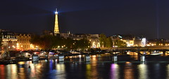 Seine, (judju75) Tags: paris seine night nikon eiffeltower toureiffel d3100 yahoo:yourpictures=europeanmonuments yahoo:yourpictures=waterv2