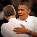 WestStar Precision CEO Erv Portman gets a hug from President Barack Obama.