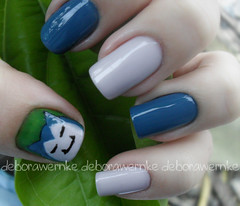 Nail Art - Quem  esse pokemon? (DboraWernke) Tags: nails pokemon nailart snorlax