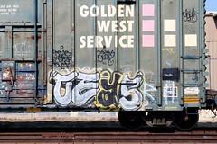 CEAS (KNOWLEDGE IS KING_) Tags: railroad art car yard train bench one graffiti paint panel tracks rail railway socal boxcar bomb railfan freight fill in rollingstock gws ceas goldenwestservice