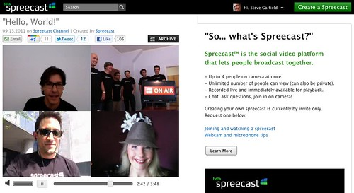 spreecast by stevegarfield