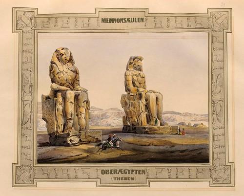 013-Los Colosos de Memnom en Tebas-Malerische Ansichten aus dem Orient-1839-1840- Heinrich von Mayr-© Bayerische Staatsbibliothek