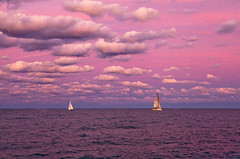 Pink Sky (and I know why) (Jo Bet) Tags: sunset sky clouds illinois day cloudy lakemichigan lakeshoredrive canon5d chicagoist belmontharbor