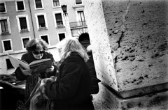 rome, march 2011 (elhacedor) Tags: street leica people bw italy rome film candid ss ilfordhp5 m42 400asa oldladies summicron35 thedefiningtouch deftouch