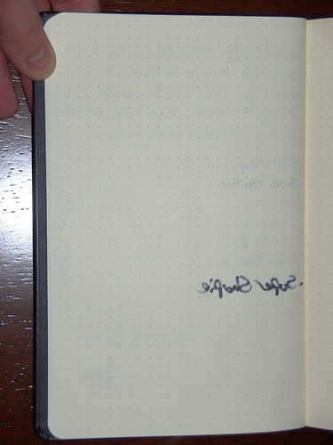 Back of page