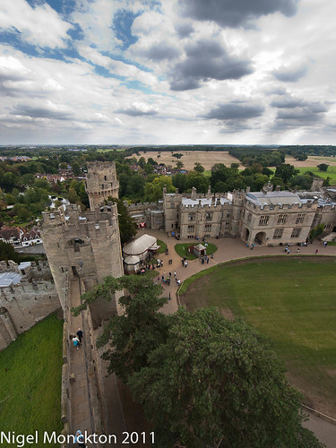Looking down on the main gate - Warwick Castle