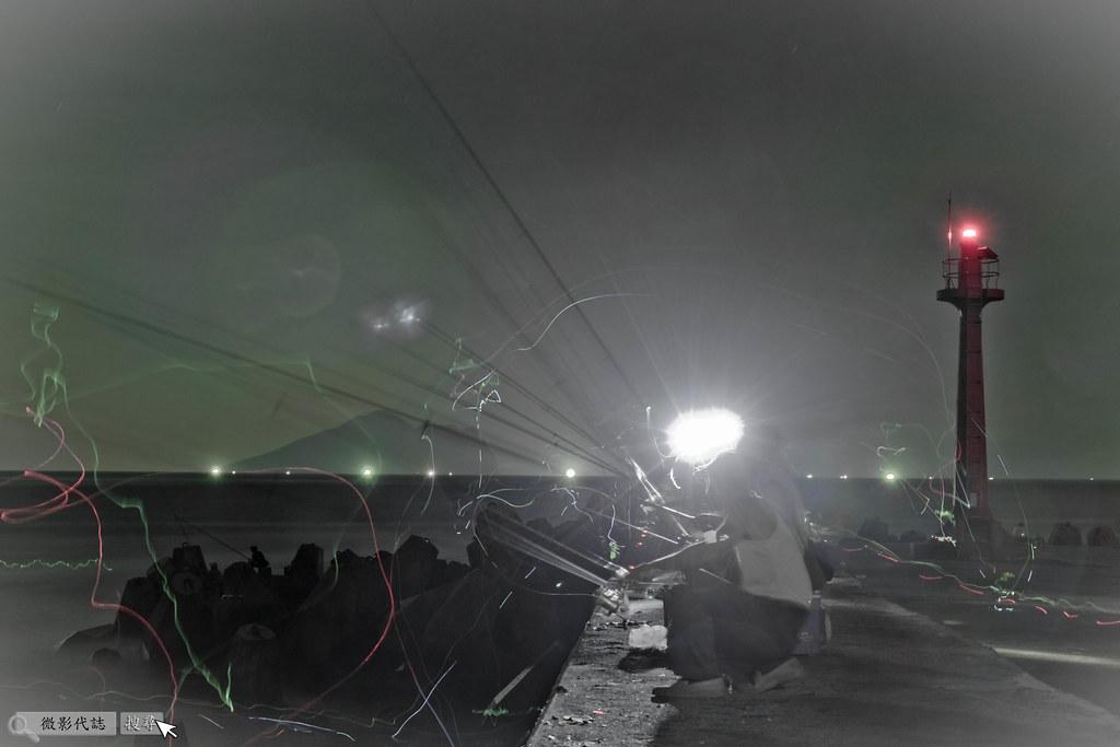 烏石港堤防夜拍 033