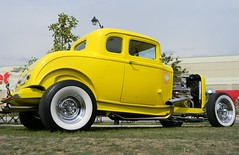 duece (LakeRidge Photography) Tags: auto show ontario classic car wheel yellow shine chrome hotrod custom coupe 5window sidewalls
