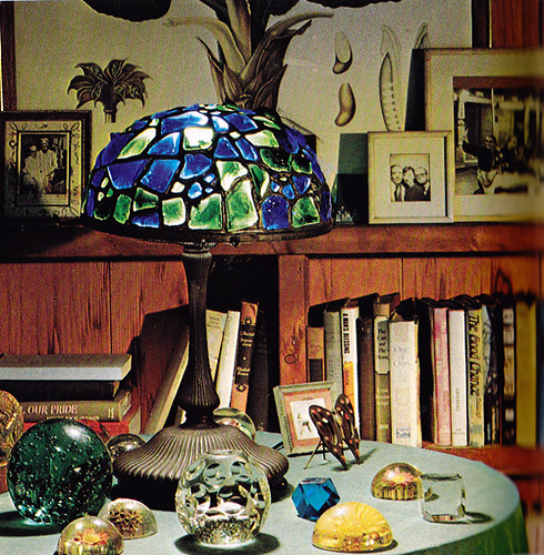 Truman Capote's Tiffany lamp and paperweights