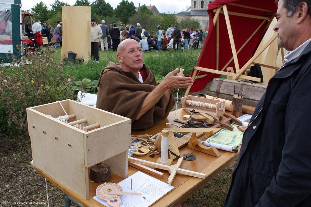 Présentation du stand d'ingénierie antique