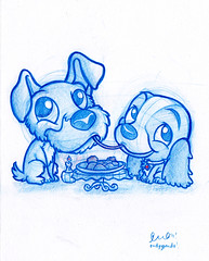 Daily Doodle #11: Lady and the Tramp (PodgyPanda) Tags: panda disney poopy icky mushy ladyandthetramp dailydoodle podgypanda