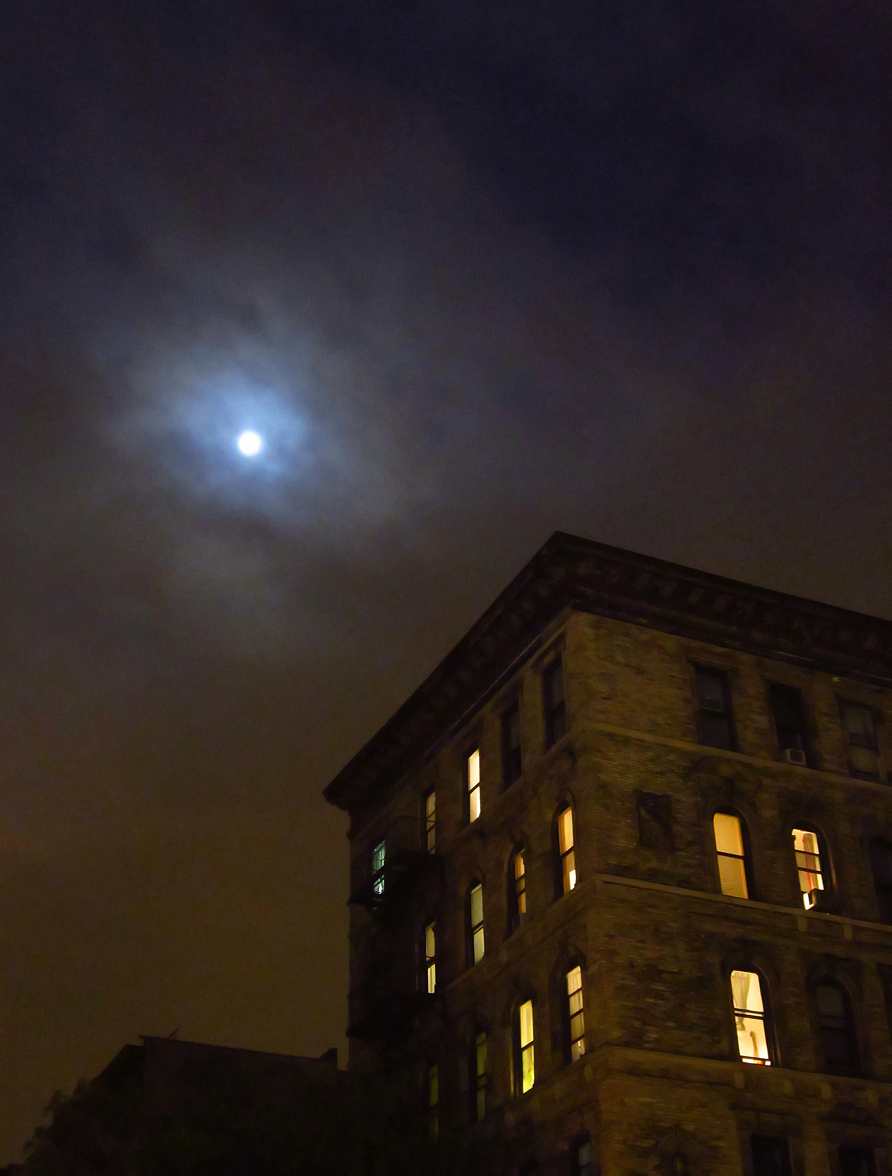 Moon over the East Village