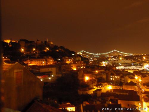 Lisbon under the night sky (June 2009)