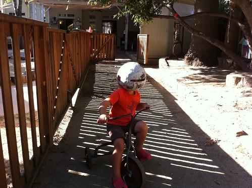 Finn's paper mache helmet