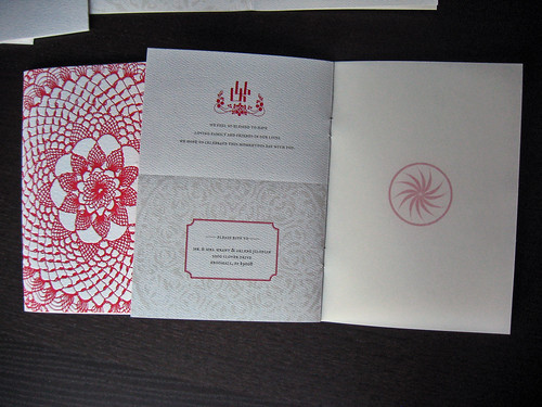 Letterpress & Digital Wedding Booklet