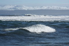 white waves and snowy mountains (Slveig Bjrg) Tags: waves brim skjlfandi ldur