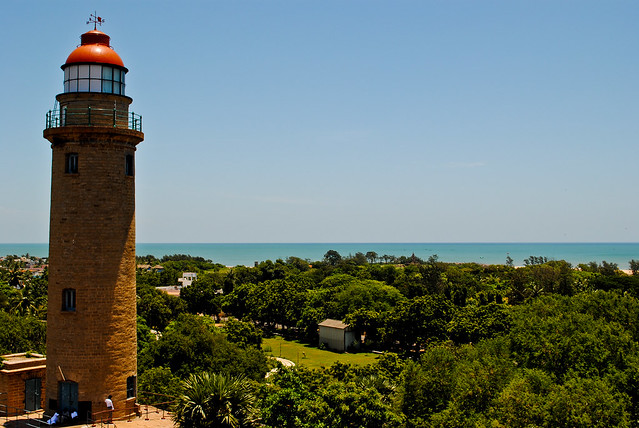 The Light House overlooking Bay of Bengal