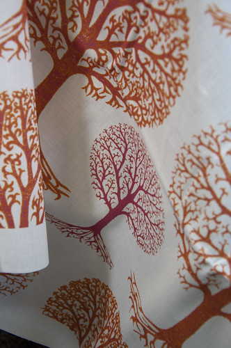 Autumn Trees by kezia by Spoonflower Fabrics