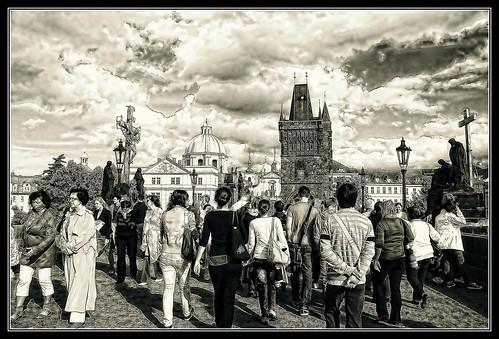 Charles Bridge Prague by Eddie Hales