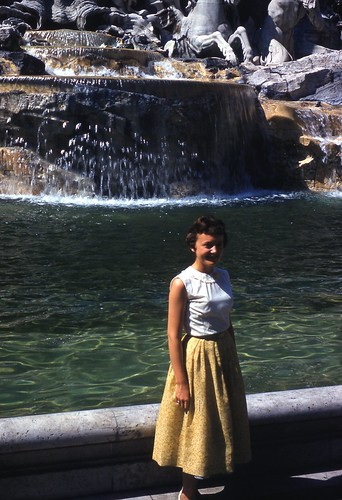Mom at Fountain of Trevi