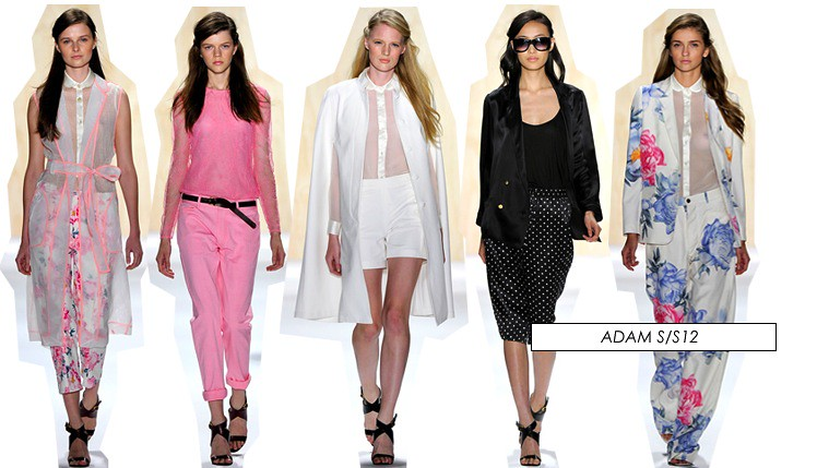 new york fashion week ss12 adam collection