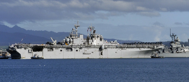 USS Boxer arrives at Joint Base Pearl Harbor-Hickam for a port visit.
