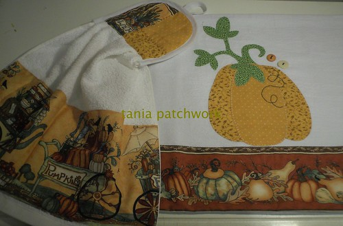 Conjunto Abóboras by tania patchwork