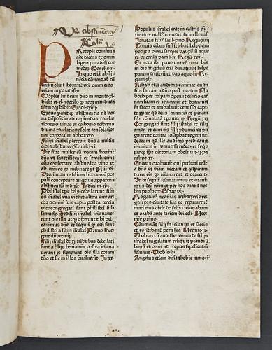 Manuscript heading in Nicolaus de Hanapis: Auctoritates utriusque Testamenti