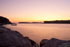 Babin Kuk Sunset (trunks_pj) Tags: longexposure travel sunset sea orange water boat nikon europe croatia dubrovnik adriatic ragusa babinkuk d3100 trunkspj pjsampson