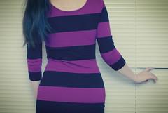 264   365 (elle.hanley) Tags: portrait woman window self purple stripes blinds 365 vivadeva ladymisselle