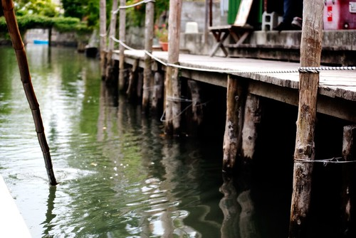 柳川の桟橋