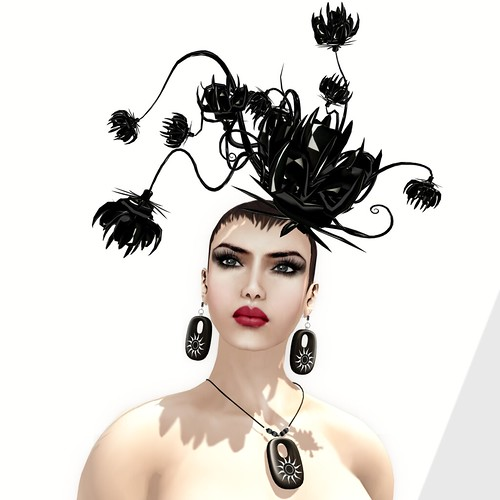 :: PM :: 'O Sole Mio Set + Oda Headpiece in Onix