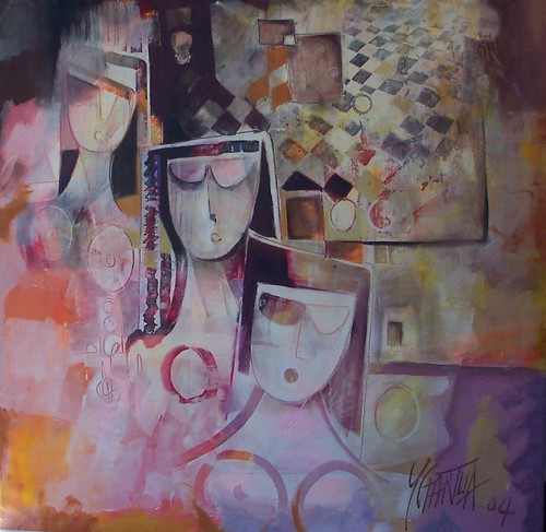Las Mujeres - Painting - Cubism