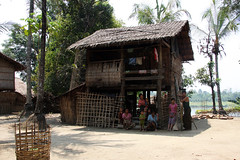 Traditional village in the Chin State, Myanmar (sensaos) Tags: travel people house asia village state native burma capital tribal u myanmar tribe birma chin indigenous azie dwelling azië mrauku chinstate mrauk rakhaing