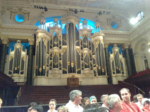 The organ in Sydney Town Hall