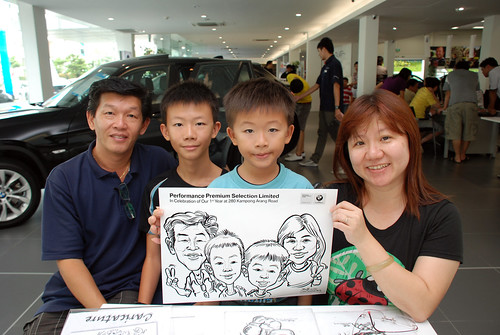 Caricature live sketching for Performance Premium Selection first year anniversary - day 3 - 24