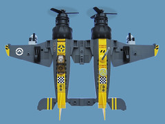 Niningumi Zero - Sky Fighter (Fredoichi) Tags: plane lego space military micro shooter shootemup skyfi shmup microscale dieselpunk skyfighter fredoichi