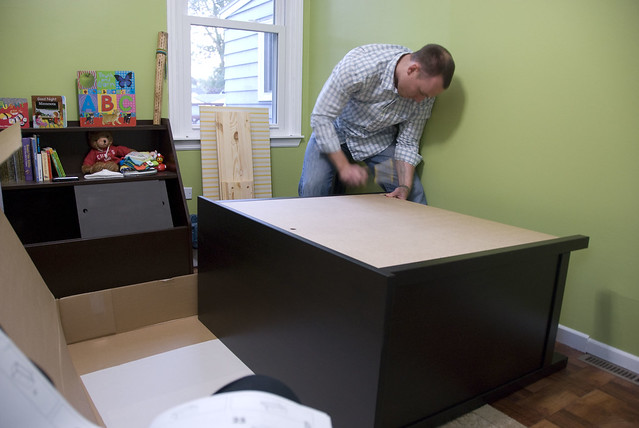 putting together dresser 1