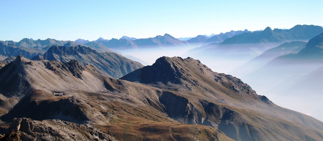 View from Piz Nair, Engadin Valley