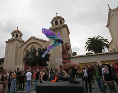 Folsom Street Fair flag dancer