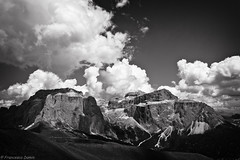 Sella in black and white (cesco.pb) Tags: italy alps canon italia alpi montagna trentino dolomites dolomiti montains efs1855mmf3556 valdifassa campitellodifassa gruppodelsella supercontest canoneos1000d