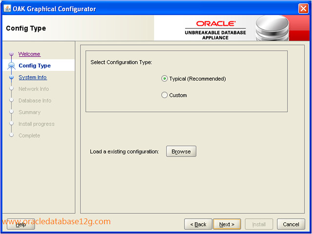 Oracle Appliance Manager Configurator2