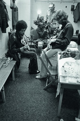 Jimi & MickTaylor xEthan Russell Nov. 1969 by Doctor Noe