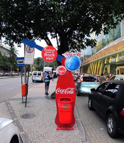 Rock in Rio Coca-Cola Temporary Special Bus Stop Rio de Janeiro by roitberg