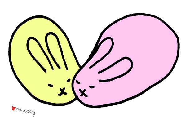 Bunny Love Drawing