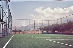 (DavidSearcy) Tags: football kodak olympus greece crete pitch portra 35rc 160nc